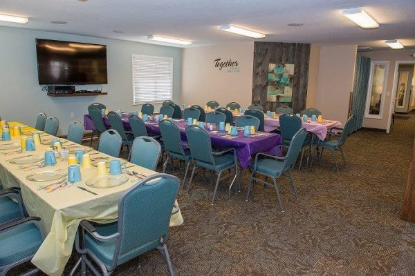 Spacious Community Room for activities and rentals