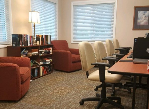 Library area for residents